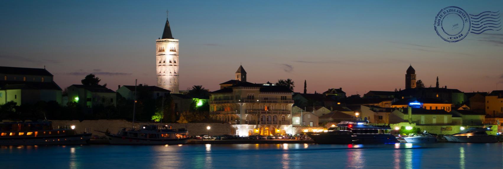 Otok Rab panorama noćna slika