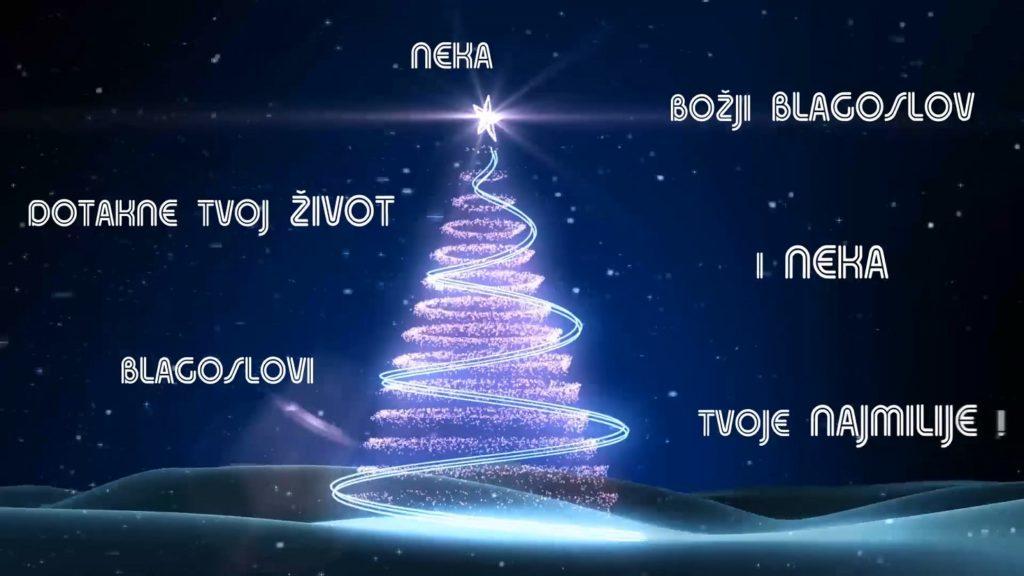 Božićna čestitka sa stihovima