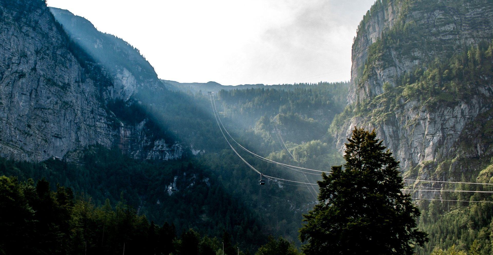 Hallstat, Austria vidikovac 5 prstiju gondola
