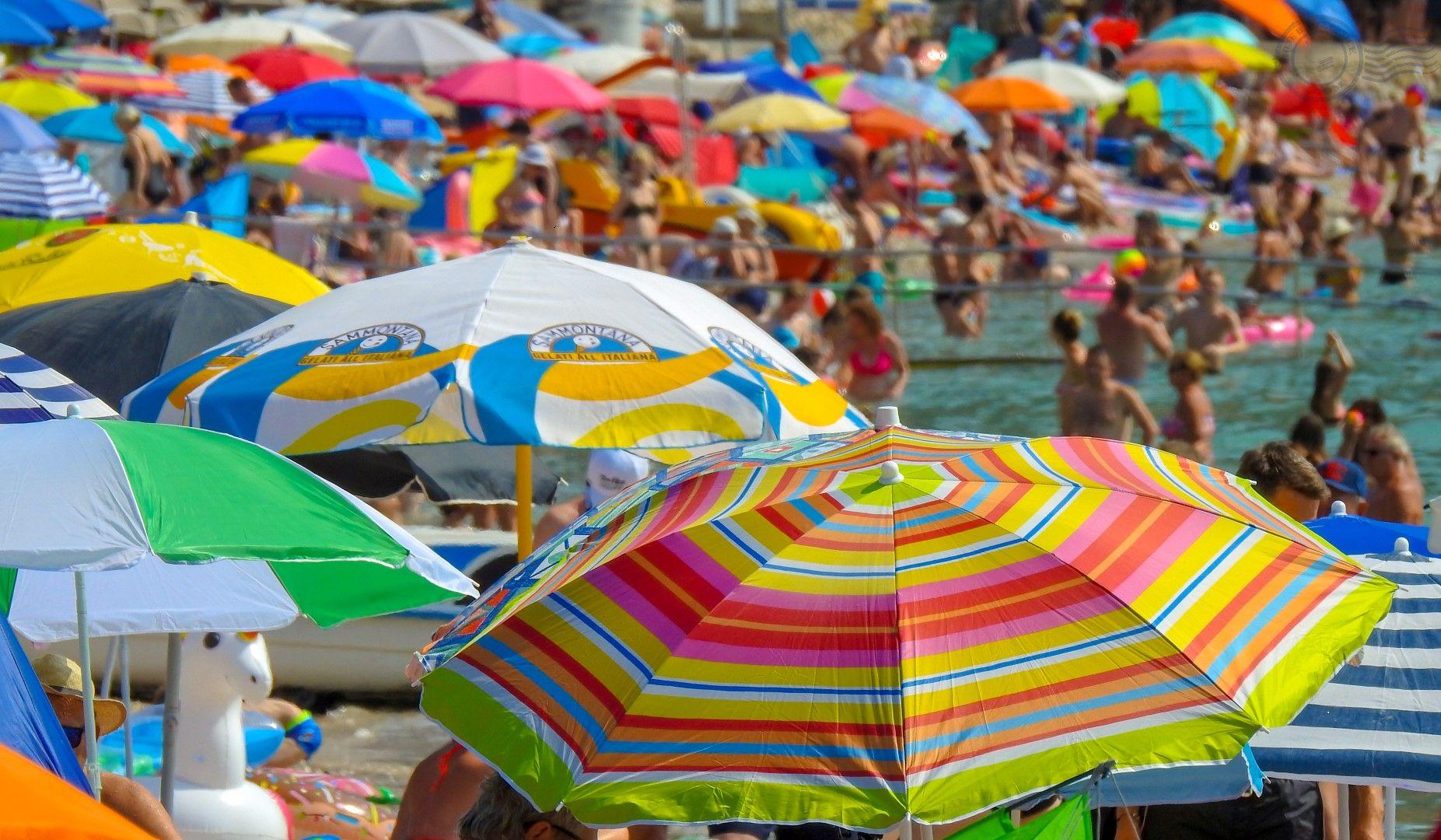 Croatia, Krk Island, Baska beach