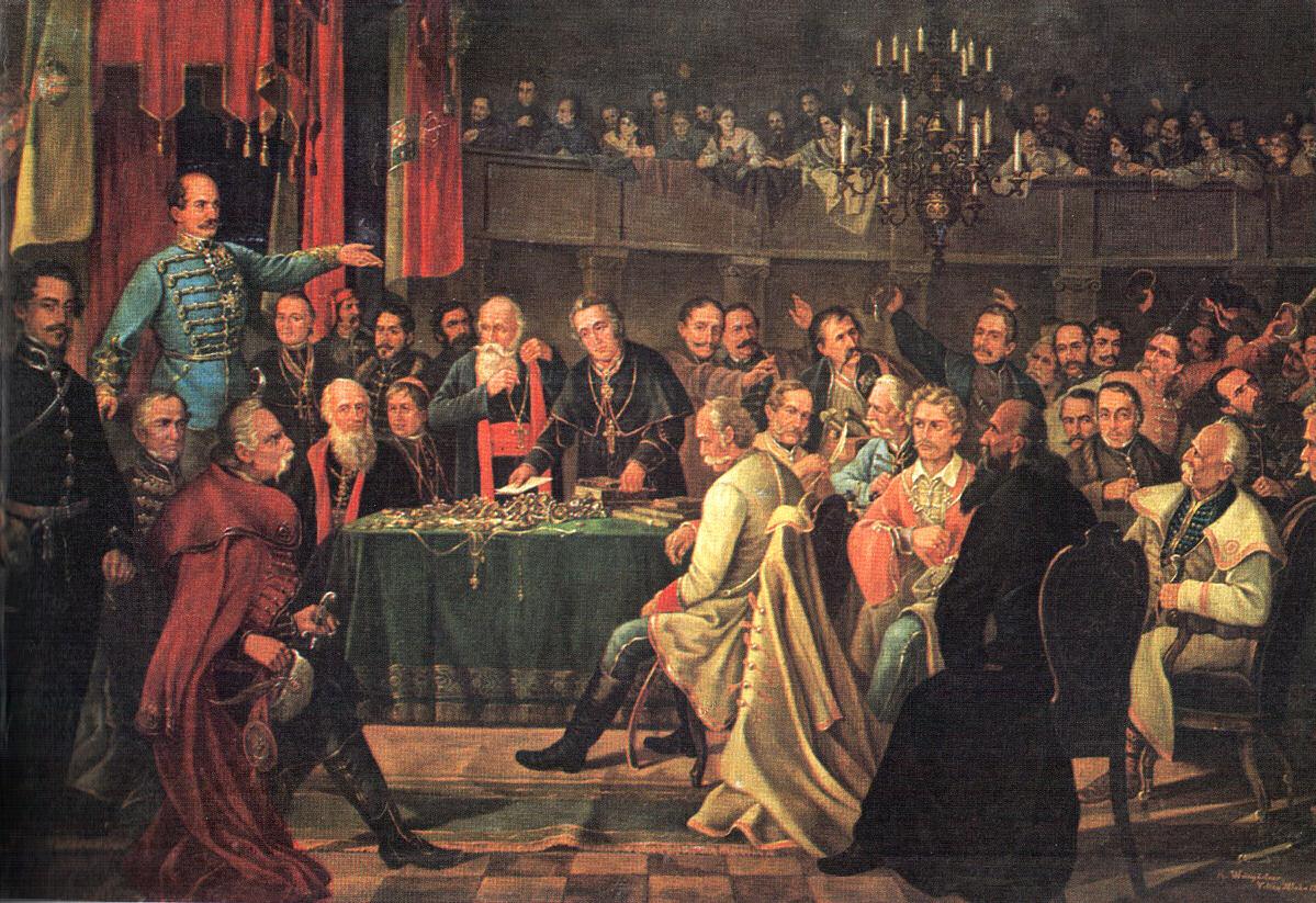 Dragutin Weingärtner, Hrvatski sabor 1848. god