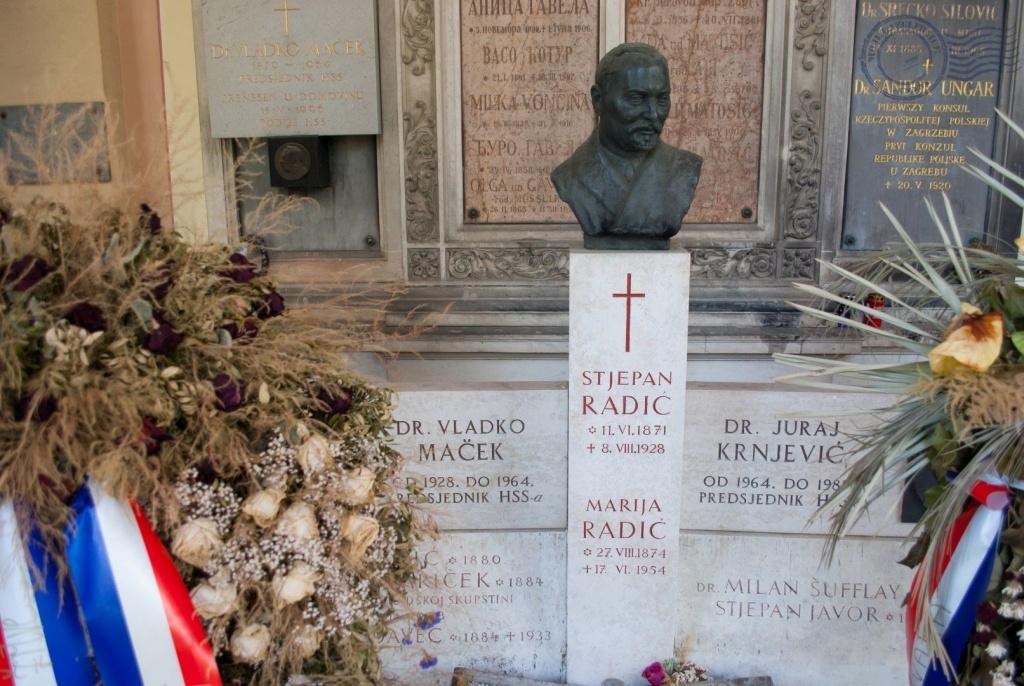 Stjepan Radić, Mirogoj